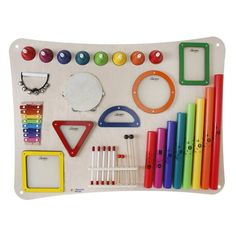 Whether they're creating beautiful music or some experimental noise, the Paradiddle Percussion Wall Panel will have children exploring music, shapes, and sound while building essential developmental skills. Sensory Book, Sensory Activities, Infant Activities, Travel Toys, Baby Travel, Skill Tools, Baby Gadgets, Sensory Boards, Activity Board