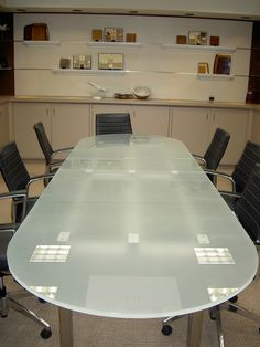 Oval Glass Conference Table Modern Glass Boardroom Tables And - Frosted glass conference room table