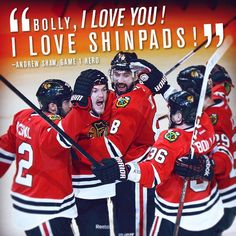 Andrew Shaw has quite a way with words. I love shinpads.