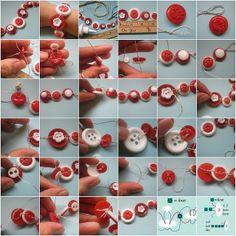 button jewelry tutorial love it! must try! #ecrafty