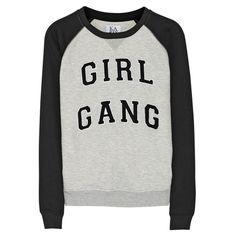 Girl Gang Jersey Sweatshirt by Zoe Karssen