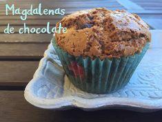 Magdalenas de chocolate 12 unidades INGREDIENTES – 70 gr de tu chocolate preferido – 315 g de harina de repostería – 210 g de azúcar moreno – 2 cucharaditas colmadas de leva…