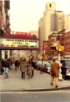 St. Marks Cinema, New York City (1982) by PaulWrightUK, via Flickr