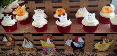 Porta Cupcakes  Decoración Granja Fiesta