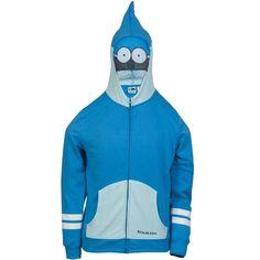 Regular Show - Mordecai Youth Costume Zip Hoodie