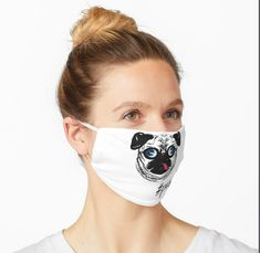 'Adorable Pug Design' Mask by Pienkerbelle Balaclava, Pug Life, Sleep Mask, Young Children, Snug Fit, Pugs, Masks, Medical, Colorful