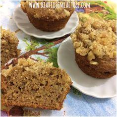 Muffins de maçã com farofinha de nozes
