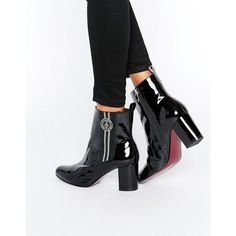 Tommy Hilfiger TommyxGigi Elastic Heeled Ankle Boots ($267) ❤ liked on Polyvore featuring shoes, boots, ankle booties, black, black ankle boots, high heel ankle boots, short black boots, black bootie and black bootie boots