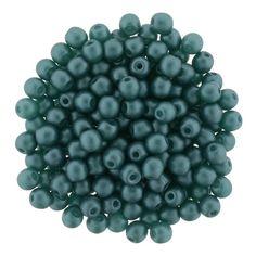 5-03-M25027 Glass Pearls 3mm : Matte - Teal