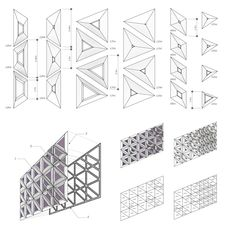 New Ideas for origami architecture diagram Parametrisches Design, Facade Design, Pattern Design, Urban Design, Building Skin, Building Facade, Architecture Paramétrique, Architecture Diagrams, Architecture Portfolio
