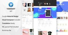 Download Tammat – Responsive Material Design WP Theme