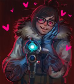 Mei from Overwatch Overwatch Mei, Overwatch Reaper, Overwatch Fan Art, Mei Ling Zhou, Overwatch Females, Overwatch Drawings, Soldier 76, Comic, Video Game Art