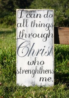 Bible Verse Hand Painted Wooden Sign Wall by AmberMooreDesigns, $39.99