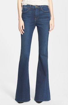 Free shipping and returns on Frame Denim 'Le High Flare' Flare Leg Jeans (Dunfield) at Nordstrom.com. Made from premium denim in L.A., the heart of the denim industry, these medium blue-wash jeans embrace the season's '70s fascination with a high waist and flared leg that heighten the silhouette and create figure-flattering balance.