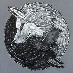 wolf drawings yin and yang wolves by mysteriouswhitewolf