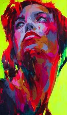 """Untitled 524"" - Françoise Nielly, palette knife {contemporary artist figurative female woman portrait painting}"