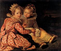 """Historical Children's Clothing in the 17th Century """"A Boy And A Girl With A Cat And An Eel"""" by Judith Leyster, 1635 Children didn't always wear """"kid's clothes.&#…"""
