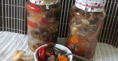 Salata de ghebe - pentru iarna Canning Pickles, Oatmeal, Stuffed Peppers, Vegetables, Breakfast, Food, Sauces, Canning, Salads
