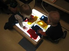 Color mixing- primary to secondary colors.  Mess-free painting