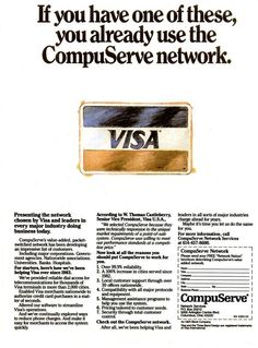 CompuServe was the undisputed king of online communities. Description from grayflannelsuit.net. I searched for this on bing.com/images
