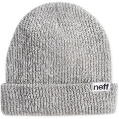 Neff Daily Foldover Heathered Beanie ($13) ❤ liked on Polyvore featuring men's fashion, men's accessories, men's hats, grey heather and mens beanie hats