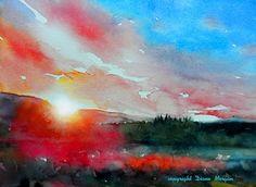 """It Just Dawned on Me"" $99 sale feature, painting by artist Diane Morgan"