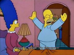 The simpsons referencing the film Chinatown