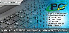 Instalacja systemów operacyjnych Windows Linux. Optymalizacja systemu, modyfikowanie, instalowanie - aktualizowanie sterowników.  42-224 Częstochowa Słonecznikowa 6b Tel. 602614637 Tel. 343227441 GG: 42504 serwis@pc-net.pl http://www.pc-net.pl