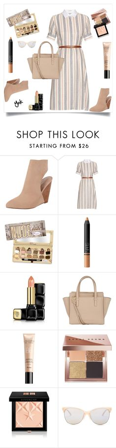 """""""Nudes"""" by ynk24 ❤ liked on Polyvore featuring Charles by Charles David, Altuzarra, NARS Cosmetics, Guerlain, Salvatore Ferragamo, Bobbi Brown Cosmetics, Givenchy and Smith Optics"""