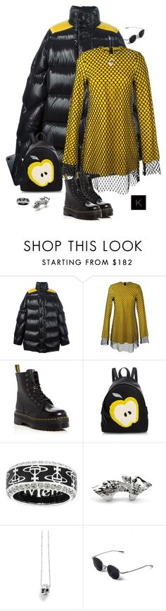 """""""Untitled #4127"""" by kimberlythestylist ❤ liked on Polyvore featuring Raf Simons, Marques'Almeida, Dr. Martens, Fendi, Vivienne Westwood, Kasun and Native Union"""