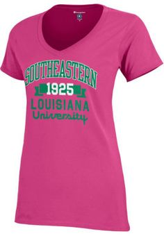 I think I want this for the summer  -) Product  Southeastern Louisiana  University Women s V-Neck Campus T-Shirt 0dd46b87b