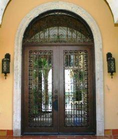 Wrought Iron Doors Windows Gates \u0026 Railings from Cantera Doors & Premium fiberglass front door with florentine speakeasy and ... Pezcame.Com