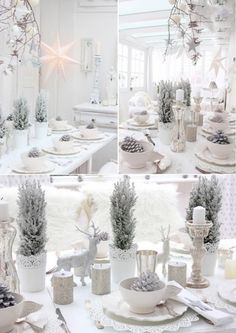 White on White Christmas decorating.