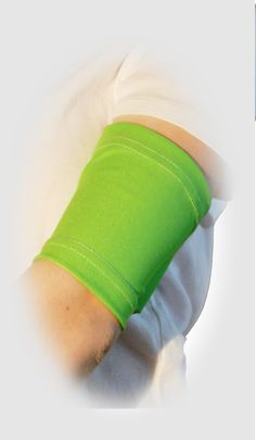 May is Lyme Disease Awareness month. Let's all wear a lyme green PICC line cover sleeve to show our support. Shown in 'Lime' in the bicep style by PICC Cover Fashions tm.