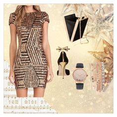 """GoldenDream"" by eliza147 ❤ liked on Polyvore featuring Kaisercraft, Oscar de la Renta and Jessica Carlyle"