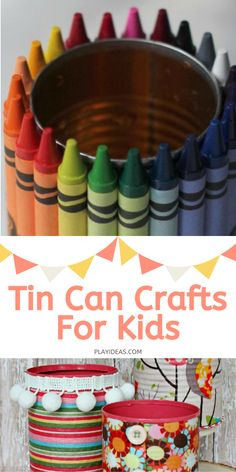 These 25 Recycled Tin Can Crafts For Kids are a blast for the whole family because they're everything from fun decorations to interesting art pieces that you might not have ever thought up. You and your kids are going to have a blast with these! Enjoy! Discover more at Play Ideas. Tin Can Crafts, Diy Craft Projects, Crafts For Kids, Projects To Try, Recycled Tin Cans, Play Ideas, Having A Blast, Homemade Beauty, Art Therapy