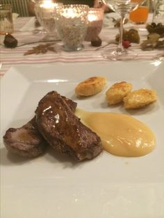 Rehrücken mit Quittenmus Steak, Dining, Food, Meal, Meal, Essen, Steaks, Hoods, Meals