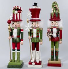 Hollywood Red and Green Nutcrackers