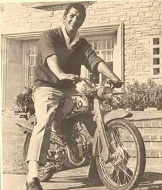 Dean Martin on a Honda Motorcycle