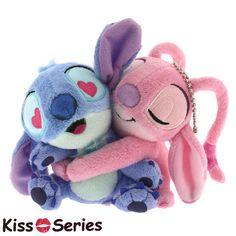 Disney Stitch & Angel hug kiss ball chain mascot plush doll bag charm in Toys & Hobbies, TV, Movie & Character Toys, Disney Lilo Stitch, Lelo And Stitch, Cute Stitch, Disney Stitch, Disney Kiss, Cute Disney, Peluche Stitch, Official Disney Princesses, Disney Valentines