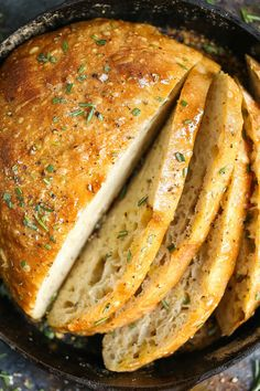 No Knead Rosemary Bread A basic, FOOLPROOF homemade bread recipe here! Anyone can make this! I PROMISE! And the bread comes out just perfect! - No Knead Bread Vegetarian Recipes, Cooking Recipes, Healthy Recipes, Cooking Gadgets, Cooking Beef, Cooking Liver, Cooking Trout, Cooking Fails