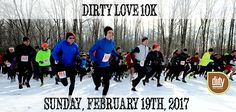 Dirty Love 10k Sunday, February 19, 2017, 9:30 a.m., River Grove Picnic Area -  Grab your Valentine and spend this romantic morning breathing heavy and romping through the snow! The scenic trail through North Chagrin Reservation in the Cleveland Metroparks is the perfect romantic setting complete with a view of Buttermilk Falls.
