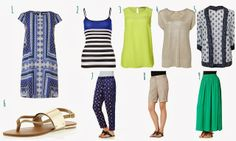 Hot weather capsule wardrobe - all from Target, Australia.