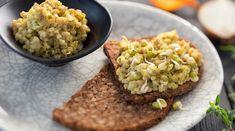 Pohanková pomazánka - PROBIO Home Food, Avocado Toast, Guacamole, Vegetarian Recipes, Grains, Appetizers, Pizza, Rice, Breakfast