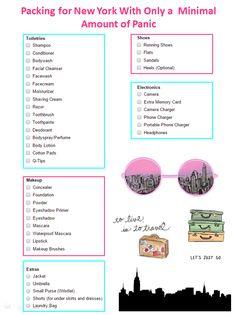 Sometimes packing can be overwhelming. The chummies made it easy with this packing list for New York City. Check out the full post on their blog for even more helpful packing tips.