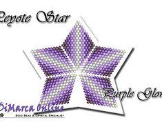 Beading Pattern/Tutorial Purple Glow 3D PEYOTE STAR + Basic Instructions