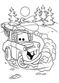 Mater How To Draw Tow Mater Coloring Pages How to Draw