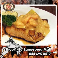 Not everybody wants red meat on a Monday so we present you our seafood dish of the day from the Cattle Baron Mossel Bay. Line Fish Agulhas is a light fish served with a rich sauce and side dishes. Visit us today for a meal to remember. Beef Dishes, Seafood Dishes, Baron, Cattle, Side Dishes, Fish, Meals, Chicken, Breakfast