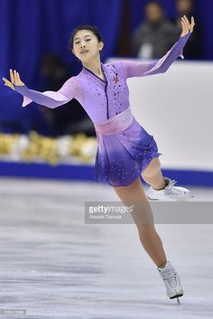 Yuka Nagai of Japan competes in the ladies short program during the day two of the 2015 Japan Figure Skating Championships at the Makomanai Ice Arena on December 26, 2015 in Sapporo, Japan.