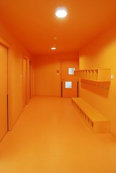 Family Creche In Drulingen   Fluor architects #architecture #orange